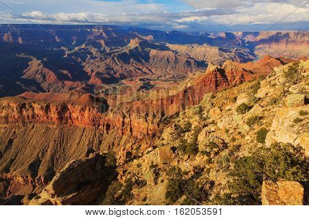 Picturesque Landscape From Grand Canyon South Rim, Arizona, United States