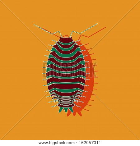 paper sticker on stylish background of wood louse