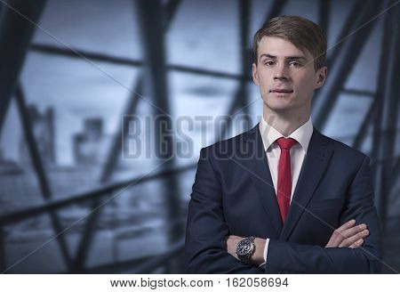 Confident Stylish Young Man In A Business Suit