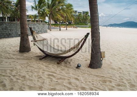 Hammock In The My Khe Beach, Danang, Vietnam
