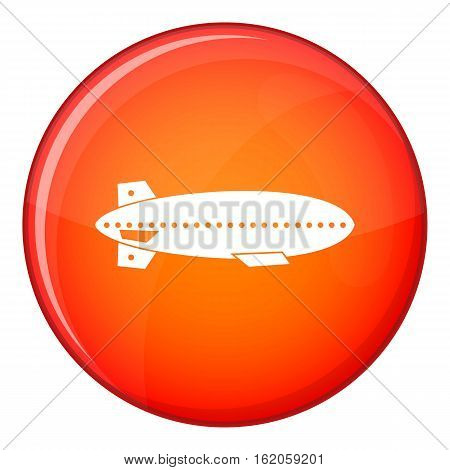 Dirigible balloon icon in red circle isolated on white background vector illustration