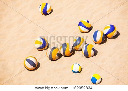 Beach Volleyball on the hot sand team sport accessories