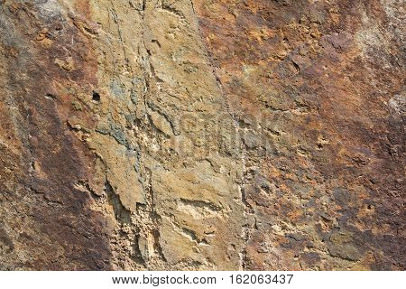 Detail Of Stone Texture With Crack Background.