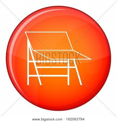 Blank portable screen icon in red circle isolated on white background vector illustration