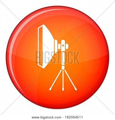 Studio lighting equipment icon in red circle isolated on white background vector illustration