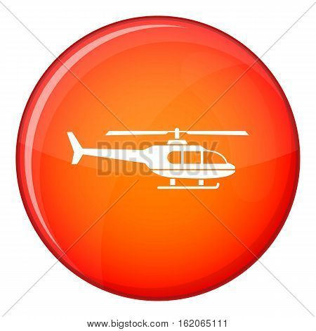 Military helicopter icon in red circle isolated on white background vector illustration