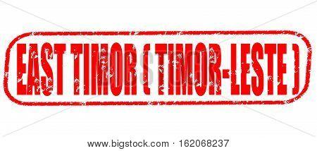 East Timor (Timor-Leste) on the white background, red illustration
