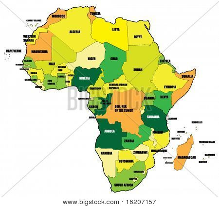 Map of Africa background