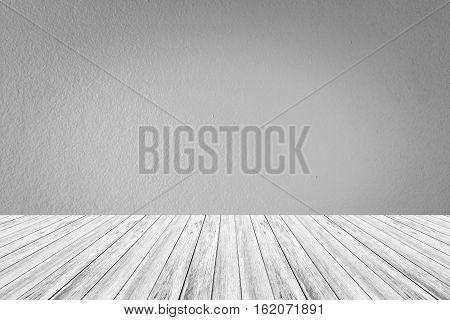 Wall Texture Surface With Wood Terrace
