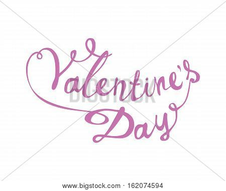 Valentine's Day. Vector Hand Written Lettering