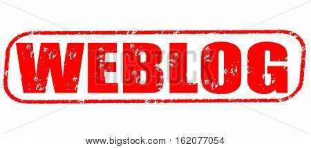 Weblog on the white background, red illustration