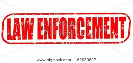 Law enforcement on the white background, red illustration