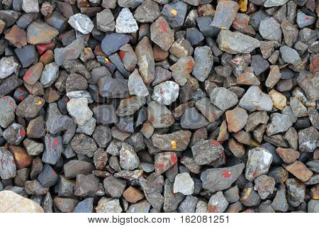 gravel gray color aggregate abstract background .
