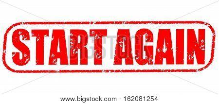 Start again on the white background, red illustration