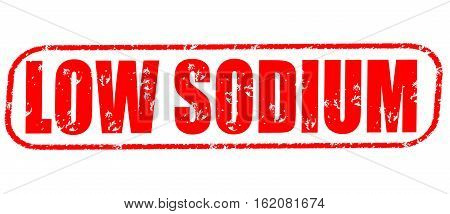 Low sodium on the white background, red illustration