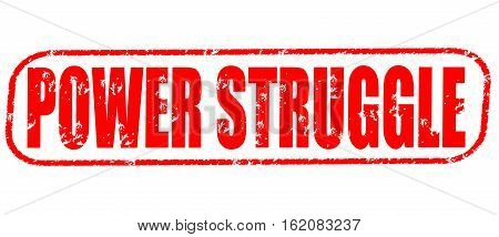 Power struggle on the white background, red illustration
