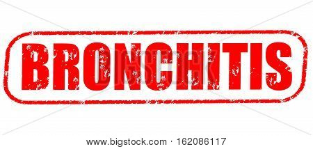 Bronchitis on the white background, red illustration