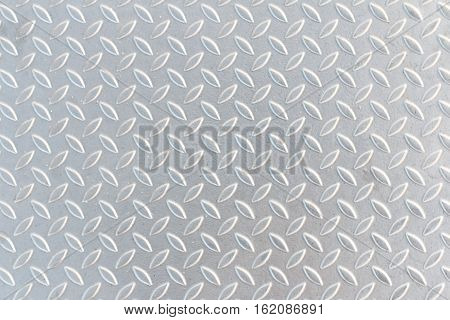 Industrial shiny metal silver list with rhombus shapes, Seamless metal texture