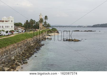 Galle, Sri Lanka - December 09, 2016 :area Near Lighthouse, Fort Galle, Sri Lanka