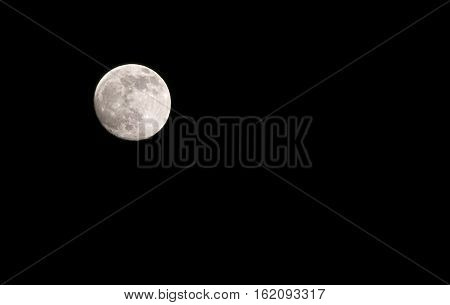Full moon with clear sky isolated background