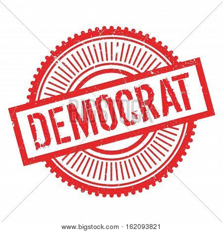 Democrat stamp. Grunge design with dust scratches. Effects can be easily removed for a clean, crisp look. Color is easily changed. rubber grunge
