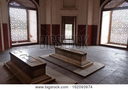 DELHI, INDIA - FEBRUARY 13 :Humayun's Tomb, built by Hamida Banu Begun in 1565-72, Delhi, India on February 13, 2016
