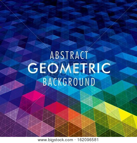 Abstract geometric shape modern background.