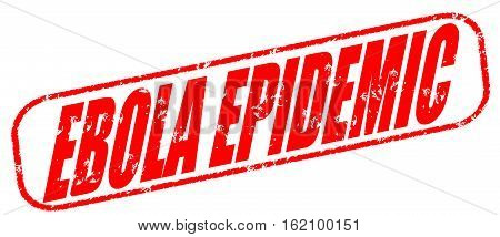 Ebola epidemic on the white background, red illustration