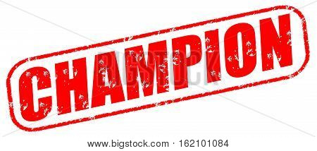 Champion on the white background, red illustration