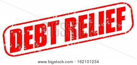 Debt relief on the white background, illustration