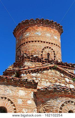Building of Panagia Koumbelidiki church in Kastoria, Greece