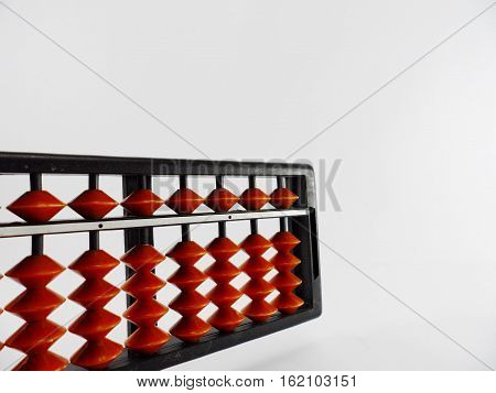 Abacus,Abacus on isolate white,vintage abacus isolated on white background