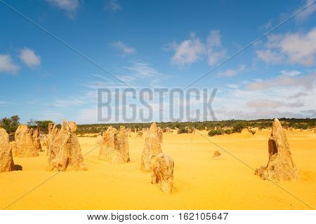 Pinnacles at Namburg National Park Cervantes Western Australia