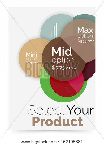 Option select infographic banner. Brochure - flyer, presentation or web design background