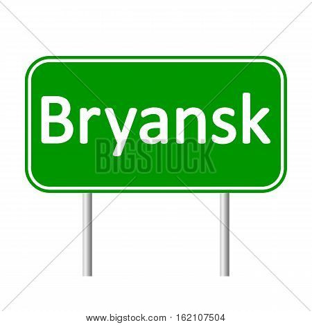 Bryansk road sign isolated on white background.