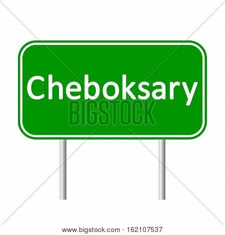 Cheboksary road sign isolated on white background.