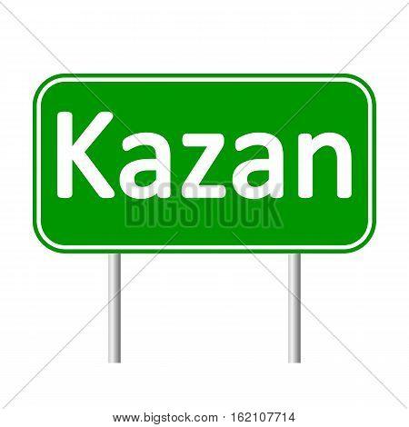 Kazan road sign isolated on white background.
