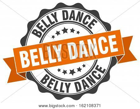 belly dance. stamp. sign. seal. round. retro. ribbon