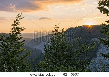 Sunrise At Letchworth State Park In New York