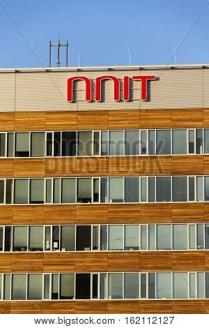 Prague, Czech Republic - December 16: Nnit International It Service Provider Company Logo On Czech H