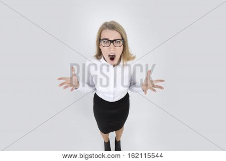 Frustrated Woman Yelling