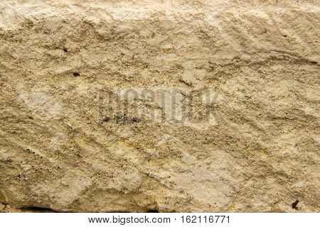 stone structure in a cut crushed, gravel