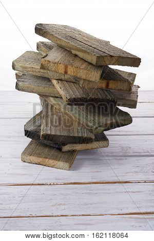Old Wood Planks on Wooden Textured Background