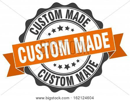 custom made. stamp. sign. seal. round. retro. ribbon