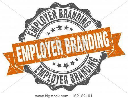 employer branding. stamp. sign. seal. round. retro. ribbon