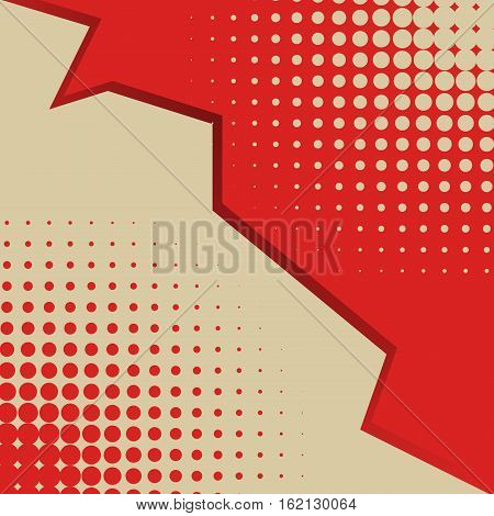 Colored back Pop Art Style bicolor background. For comic text bubble backdrop line space. Funny sun beam template. Vector illustration.