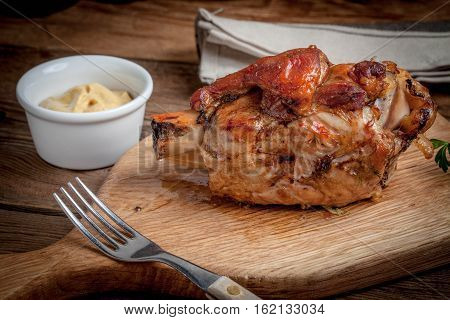 Roast Pork Knuckle.