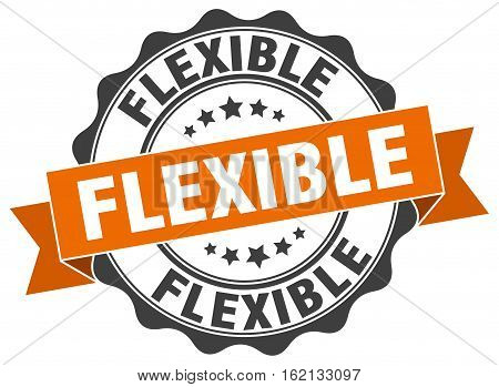 flexible. stamp. sign. seal. round. retro. ribbon