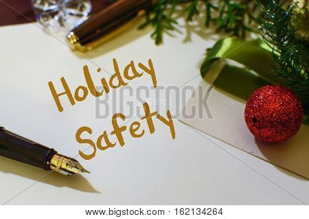 Holiday claims and risks increase during winter season holidays postcard or web social image part of series to promote holiday safety tips list and fire or theft and burglary statistics
