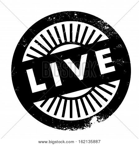 Live stamp. Grunge design with dust scratches. Effects can be easily removed for a clean, crisp look. Color is easily changed.